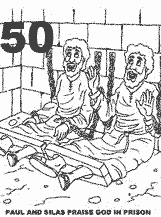 Paul And Silas In Prison Bible Coloring