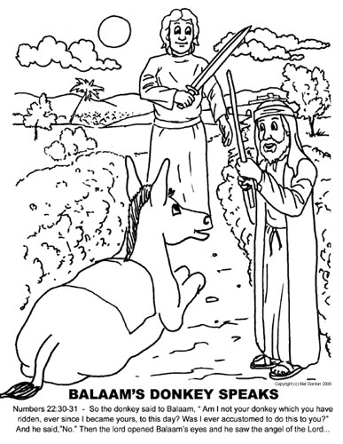 Balaam and his Donkey Cartoon