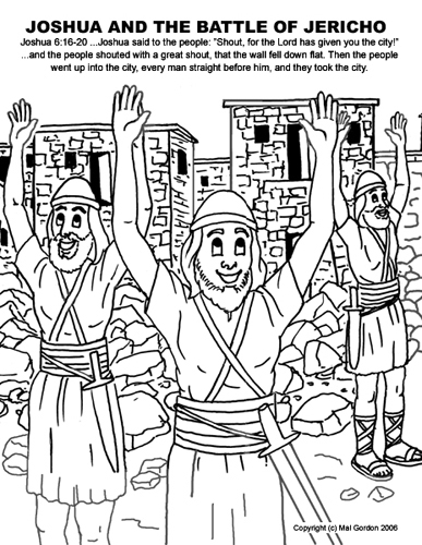 Josh and the big wall coloring page here is a walls of jericho
