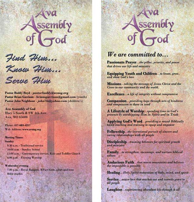 Ava Assembly of God Rack Card