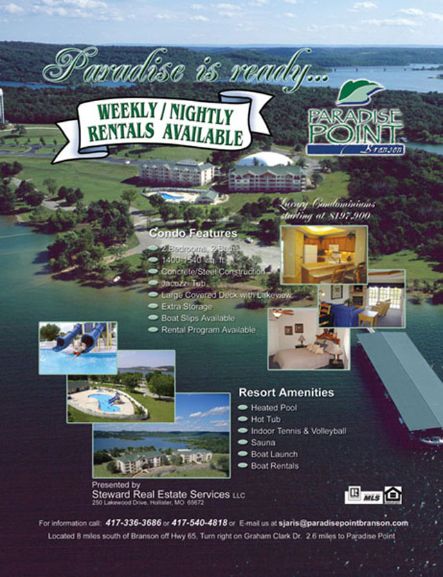 Paradise Point Ad - June