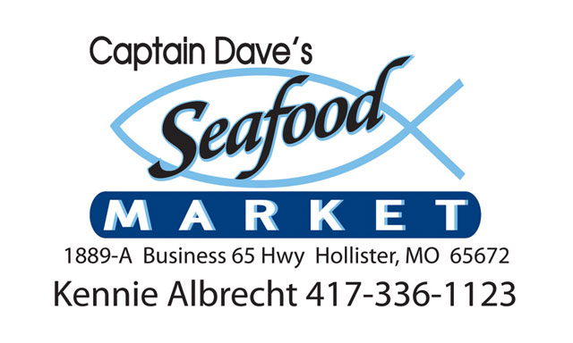 Captain Dave's Seafood Market business card