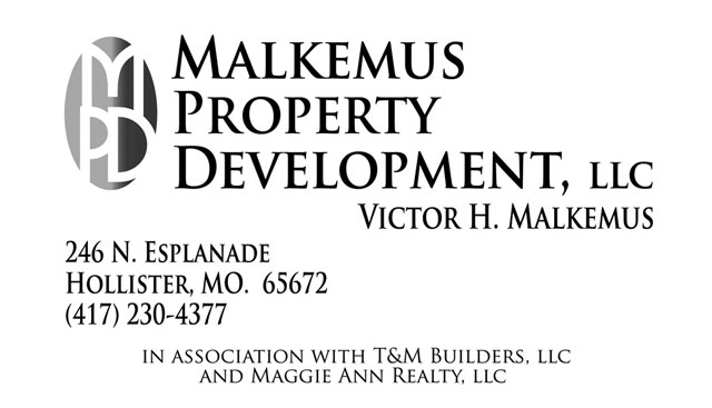 Malkemus Property Development business card