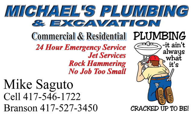 Michael's Plumbing business card