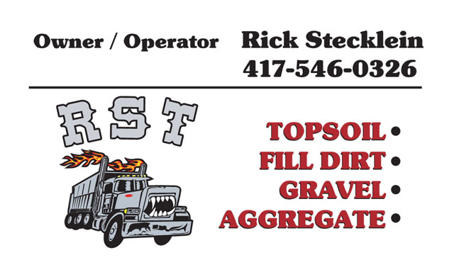 RST Trucking business card