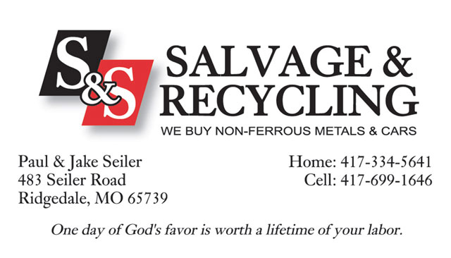 S&S Salvage business card