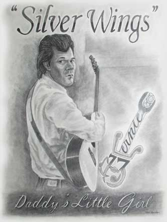 Ernie And Guitar is a commisioned work done on 18x24 paper in pencil.