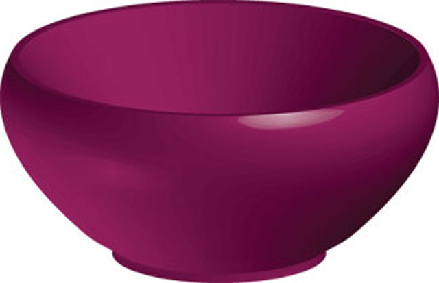 purple graphic bowl