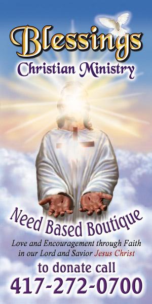 Blessings Christian Ministry PSV vinyl Printed Sign