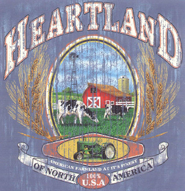 Heartland Distressed Tee Shirt