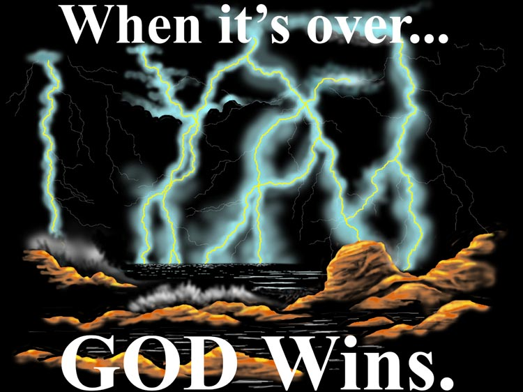 God Wins Christian Tee