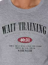 Wait Training Christian Tee